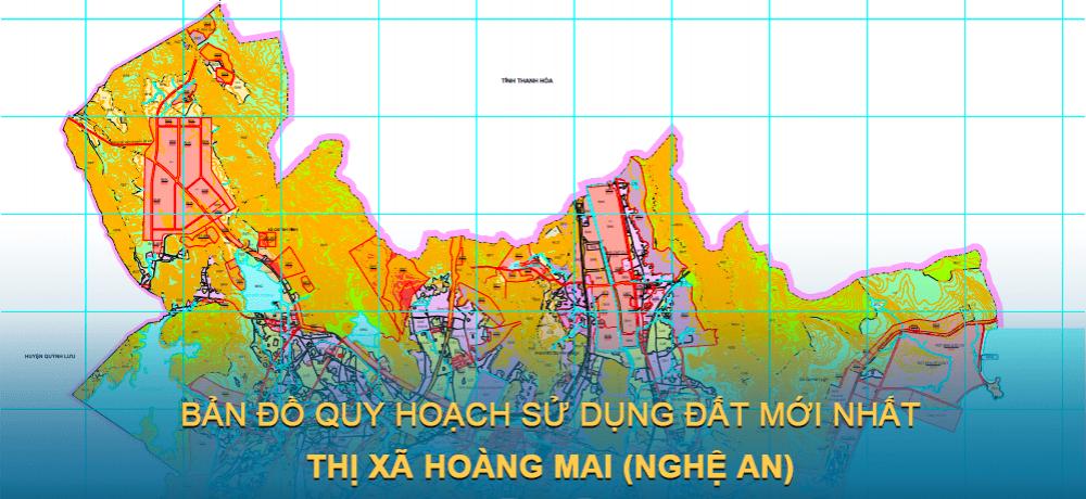 Bản đồ quy hoạch sử dụng đất Thị xã Hoàng Mai (Nghệ An) giai đoạn năm 2021 – 2030