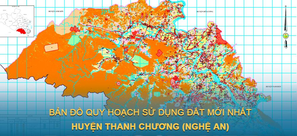 Bản đồ quy hoạch sử dụng đất huyện Thanh Chương (Nghệ An) giai đoạn năm 2021 – 2030
