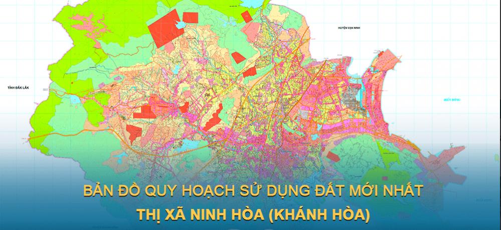 Bản đồ quy hoạch sử dụng đất Thị xã Ninh Hòa (Khánh Hòa) giai đoạn 2021 – 2030