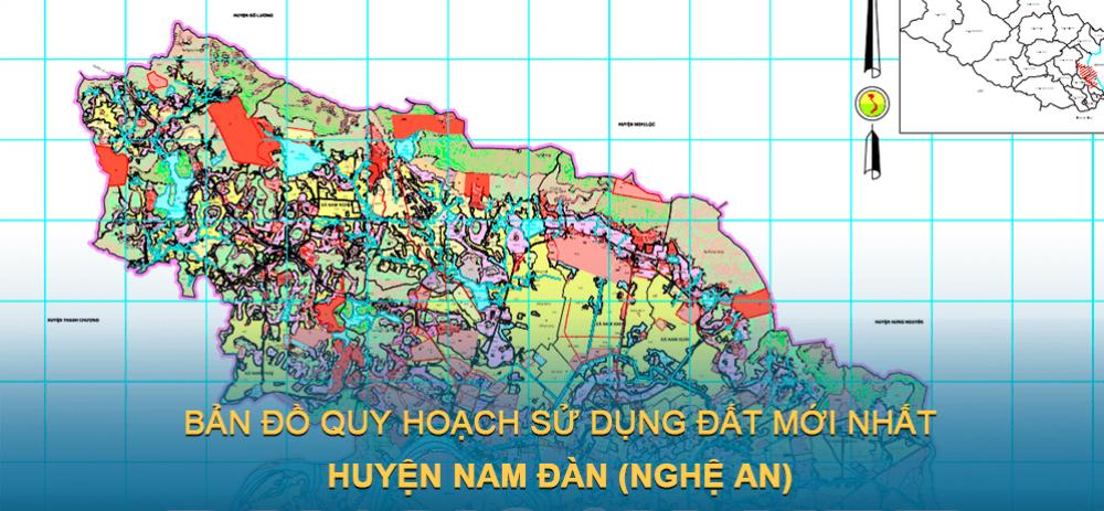 Bản đồ quy hoạch sử dụng đất huyện Nam Đàn (Nghệ An) giai đoạn năm 2021 – 2030