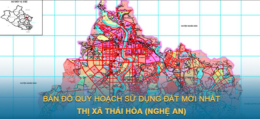 Bản đồ quy hoạch sử dụng đất Thị xã Thái Hòa (Nghệ An) giai đoạn năm 2021 – 2030