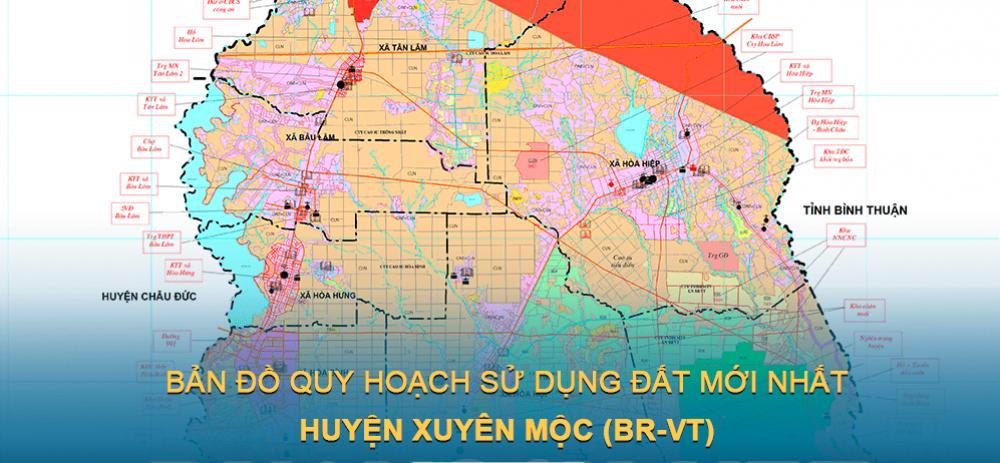 Bản đồ quy hoạch sử dụng đất huyện Xuyên Mộc (Bà Rịa – Vũng Tàu) giai đoạn năm 2021 – 2030