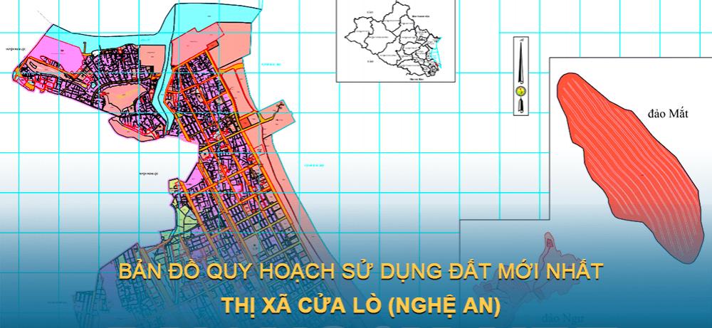 Bản đồ quy hoạch sử dụng đất Thị xã Cửa Lò (Nghệ An) giai đoạn năm 2021 – 2030