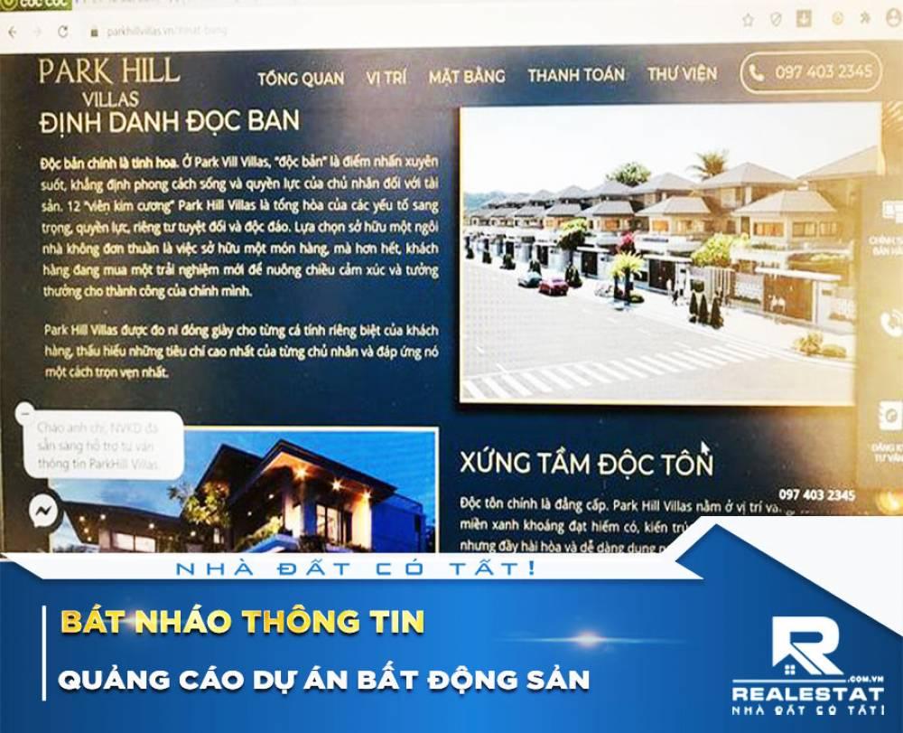 Bát nháo thông tin quảng cáo dự án bất động sản