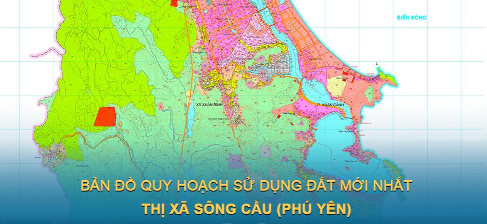 Bản đồ quy hoạch sử dụng đất Thị xã Sông Cầu (Phú Yên) giai đoạn 2021 – 2030