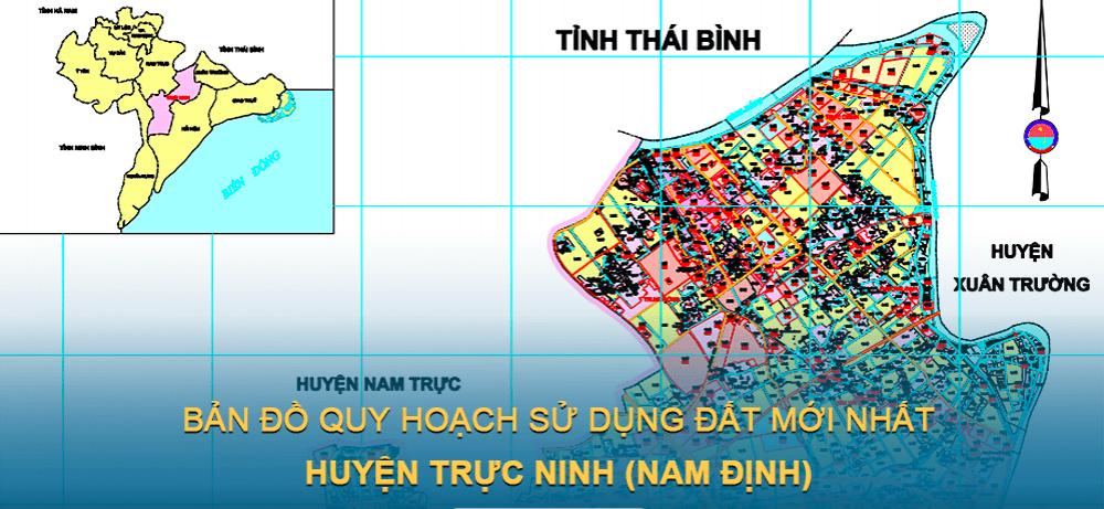 Bản đồ quy hoạch sử dụng đất huyện Trực Ninh (Nam Định) 2030