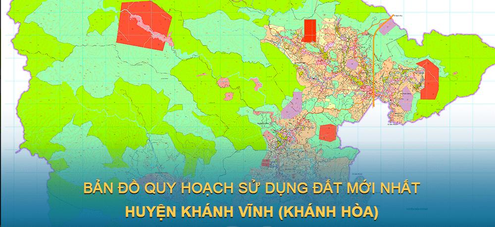 Bản đồ quy hoạch sử dụng đất huyện Khánh Vĩnh (Khánh Hòa) giai đoạn năm 2021 – 2030