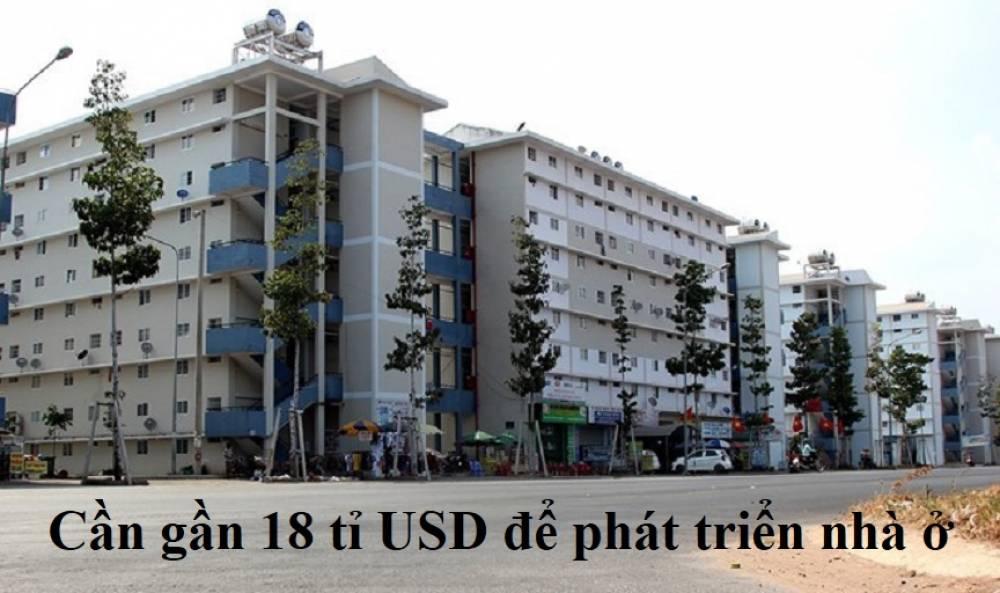 Cần gần 18 tỉ USD để phát triển nhà ở