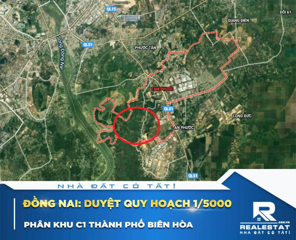 Đồng Nai: Duyệt quy hoạch 1/5000 Phân khu C1 thành phố Biên Hòa