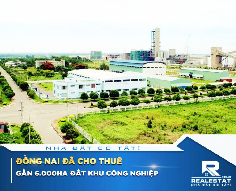 Đồng Nai đã cho thuê gần 6.000ha đất khu công nghiệp