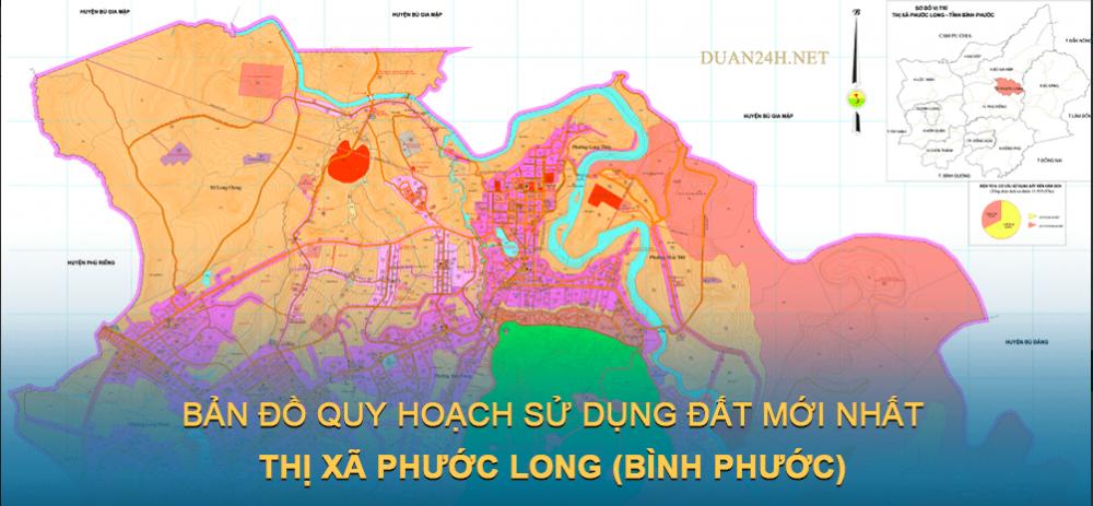 Bản đồ quy hoạch sử dụng đất Thị xã Phước Long (Bình Phước) 2030