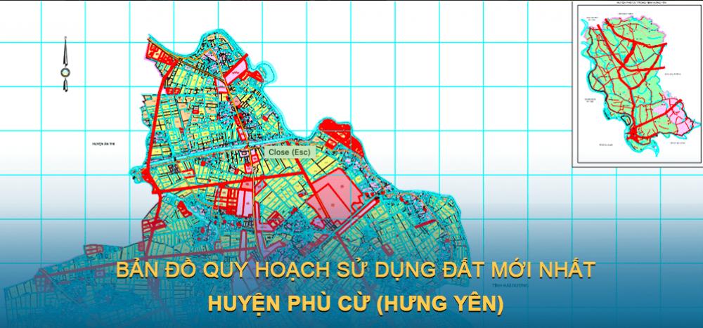 Bản đồ quy hoạch sử dụng đất huyện Phù Cừ (Hưng Yên) mới nhất 2030