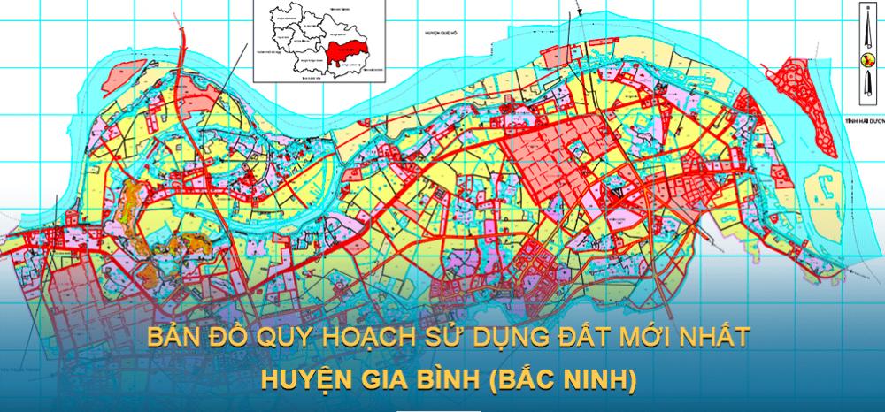 Bản đồ quy hoạch sử dụng đất huyện Gia Bình (Bắc Ninh) mới nhất 2030