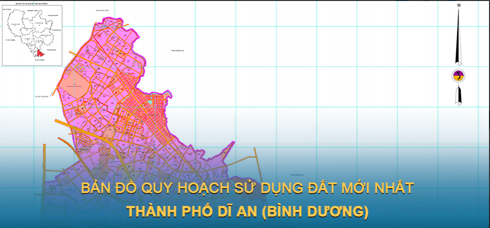 Bản đồ quy hoạch sử dụng đất Thành phố Dĩ An 2030