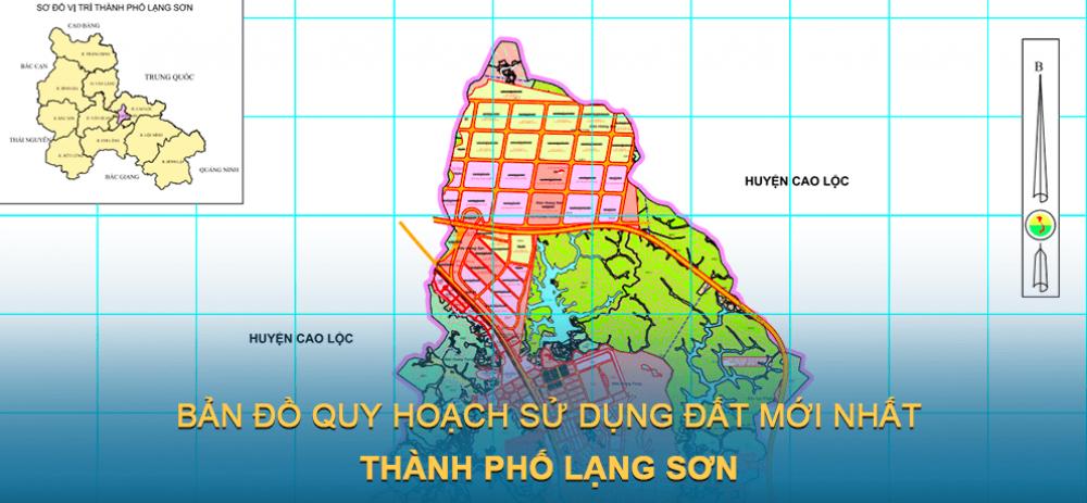 Bản đồ quy hoạch sử dụng đất Thành phố Lạng Sơn mới nhất 2030