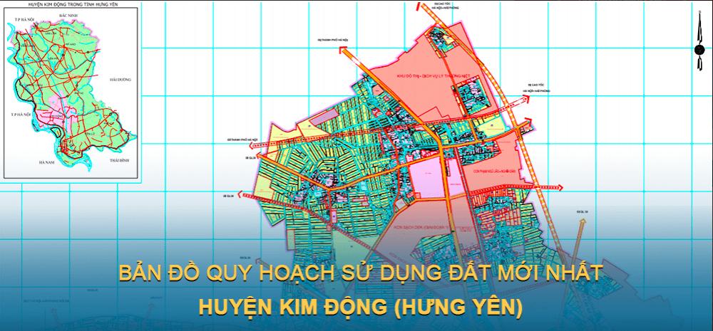 Bản đồ quy hoạch sử dụng đất huyện Kim Động ( Hưng Yên ) mới nhất 2030