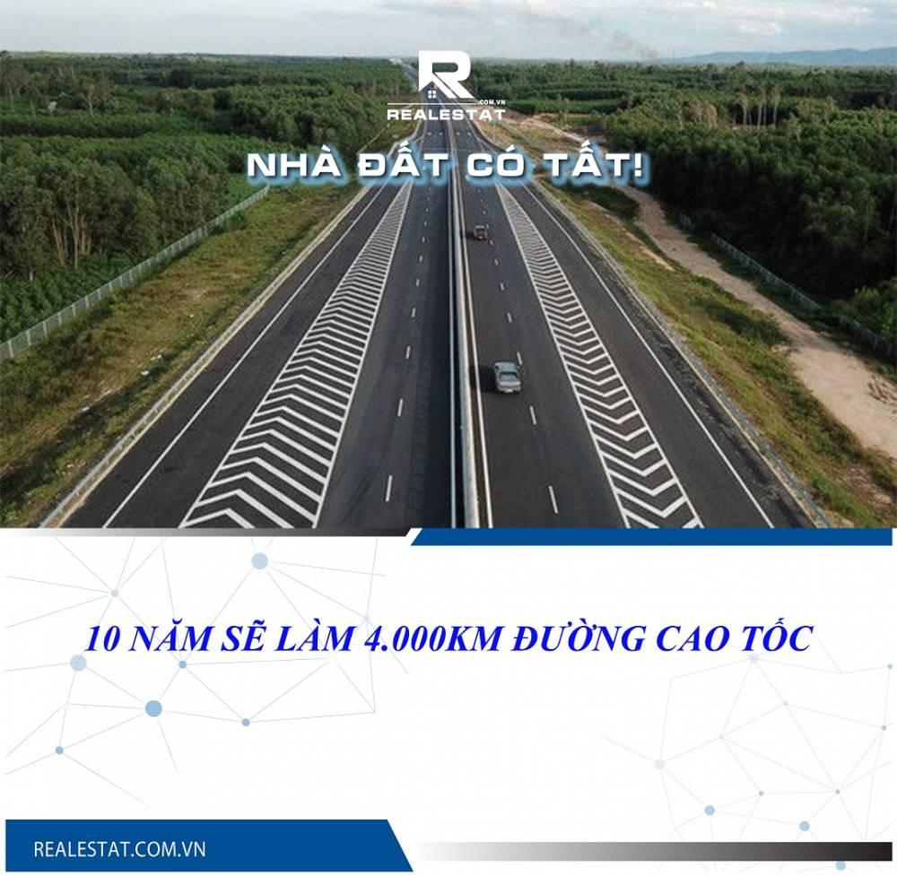 10 năm sẽ làm 4.000km đường cao tốc
