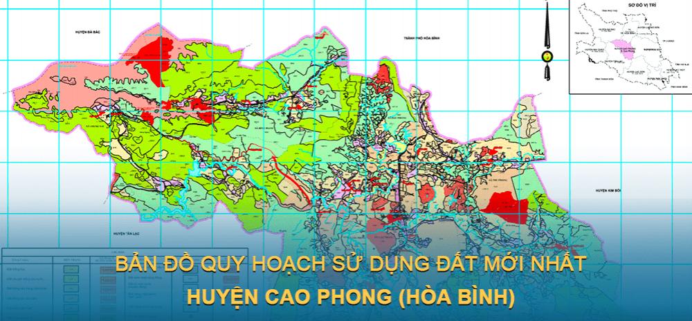 Bản đồ quy hoạch sử dụng đất huyện Cao Phong ( Tỉnh Hoà Bình ) mới nhất 2021