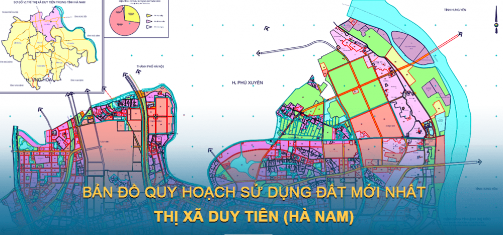 Bản đồ quy hoạch sử dụng đất Thị xã Duy Tiên ( Hà Nam ) mới nhất 2030