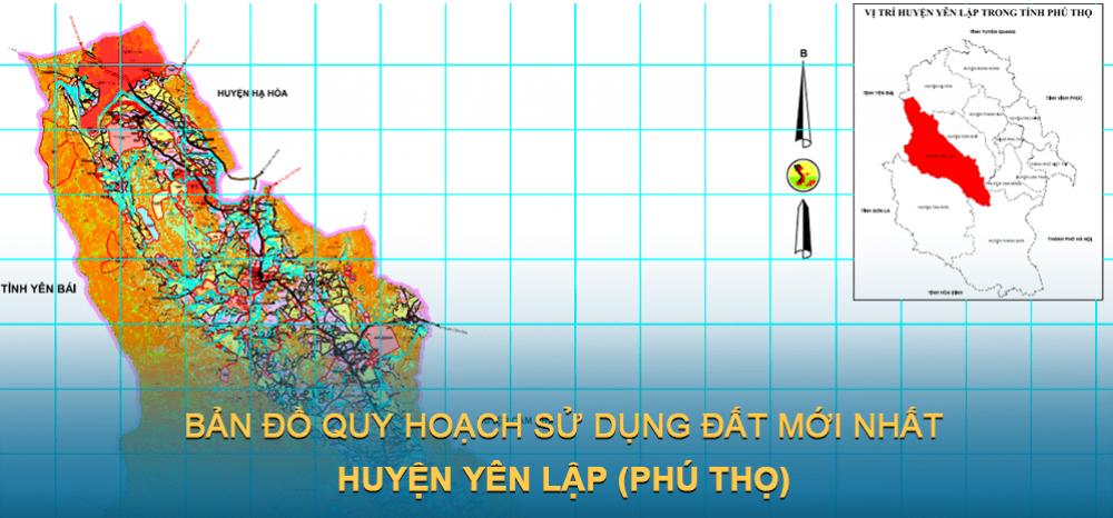 Bản đồ quy hoạch sử dụng đất huyện Yên Lập (Phú Thọ) 2030
