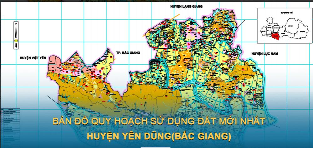 Bản đồ quy hoạch sử dụng đất huyện Yên Dũng 2021