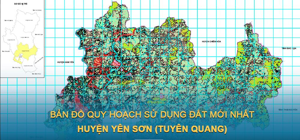 Bản đồ quy hoạch sử dụng đất huyện Yên Sơn 2030