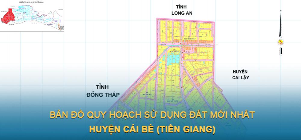 Bản đồ quy hoạch sử dụng đất huyện Cái Bè 2021