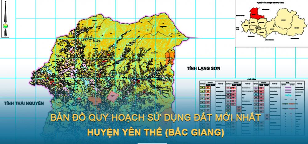 Bản đồ quy hoạch sử dụng đất huyện Yên Thế 2021