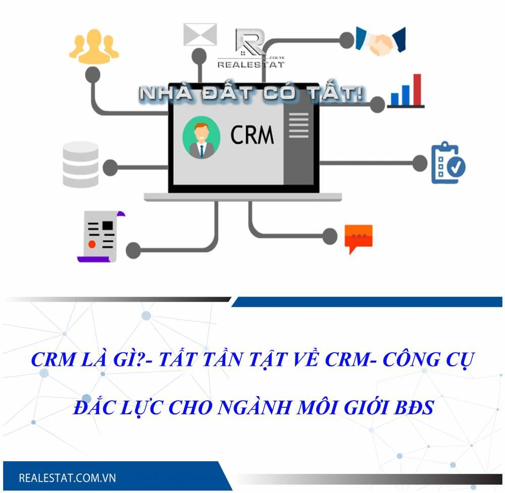 CRM là gì?- Tất tần tật về CRM- Công cụ đắc lực cho ngành môi giới BĐS