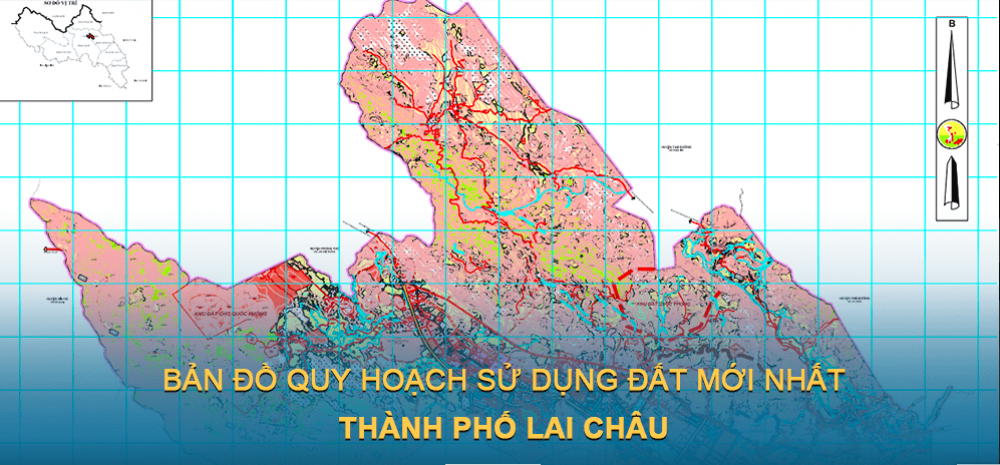 Bản đồ quy hoạch sử dụng đất Thành phố Lai Châu 2030