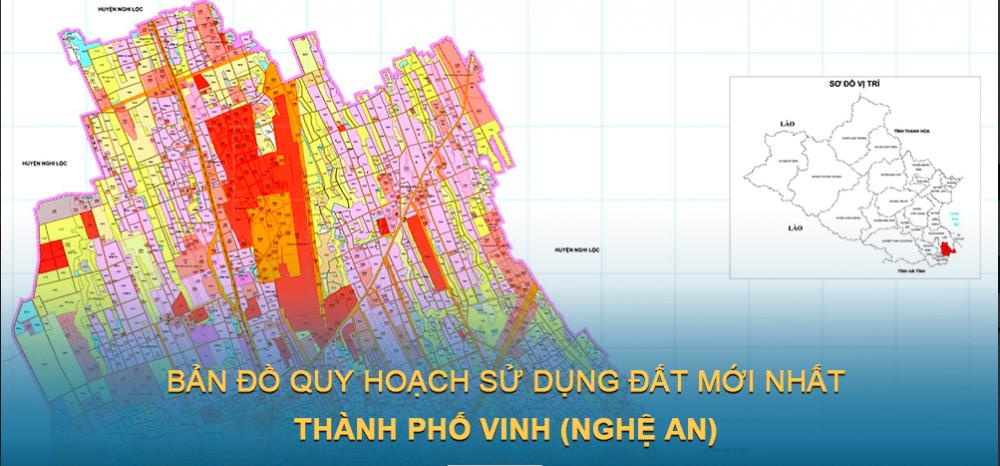Bản đồ quy hoạch sử dụng đất Thành phố Vinh 2030
