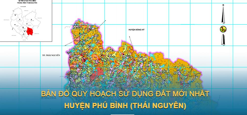 Bản đồ quy hoạch sử dụng đất huyện Phú Bình 2030