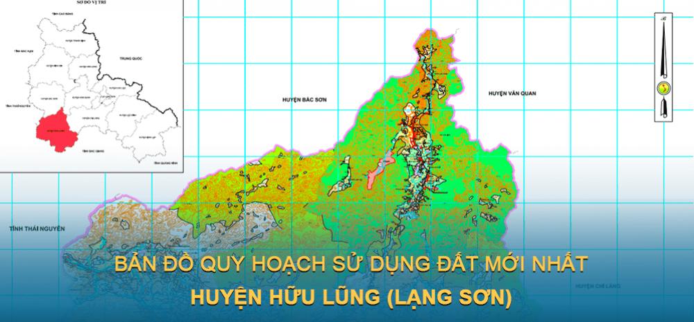 Bản đồ quy hoạch sử dụng đất huyện Hữu Lũng 2030