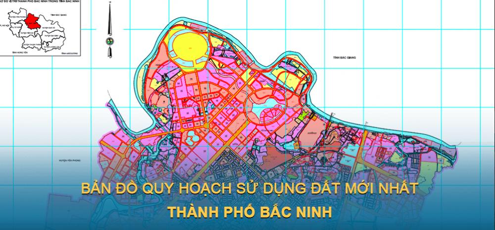 Bản đồ quy hoạch sử dụng đất Thành phố Bắc Ninh 2030