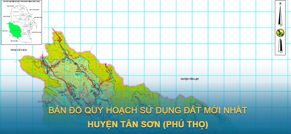 Bản đồ quy hoạch sử dụng đất huyện Tân Sơn 2021