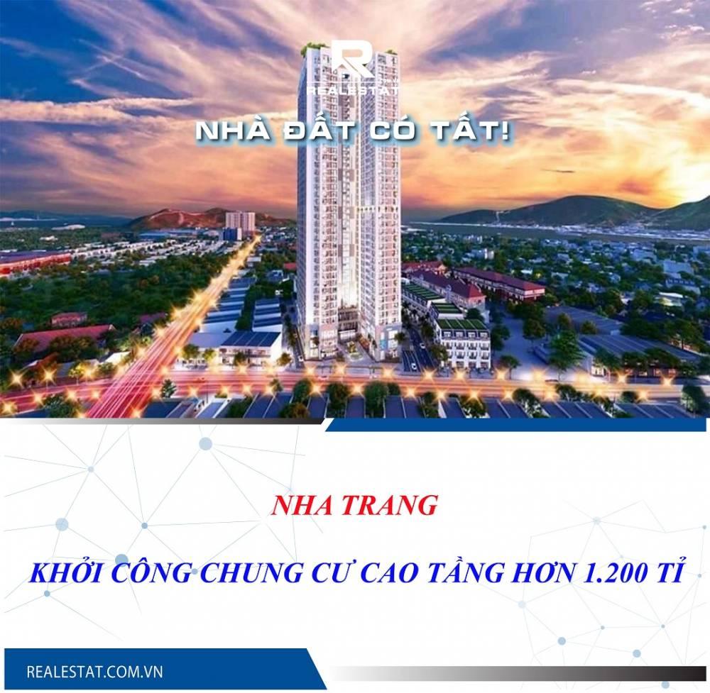 Nha Trang khởi công chung cư cao tầng hơn 1.200 tỉ