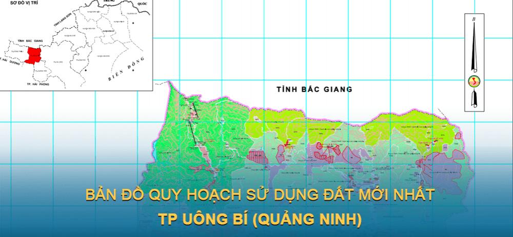 Bản đồ quy hoạch sử dụng đất TP Uông Bí 2021