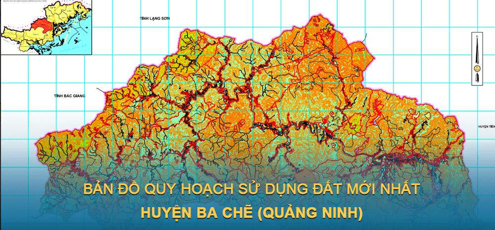 Bản đồ quy hoạch sử dụng đất huyện Ba Chẽ 2030