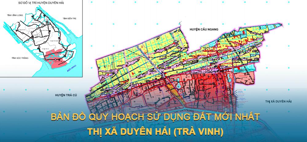 Bản đồ quy hoạch sử dụng đất Thị xã Duyên Hải 2021