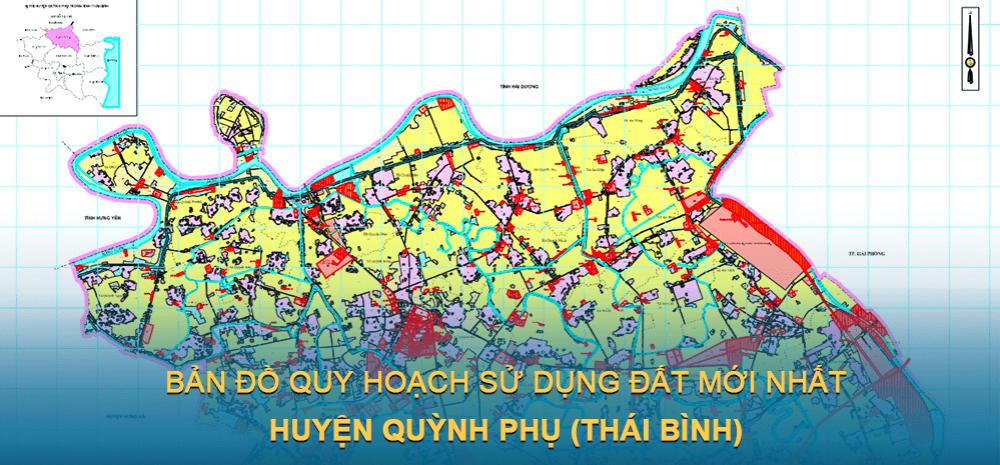 Bản đồ quy hoạch sử dụng đất huyện Quỳnh Phụ 2021