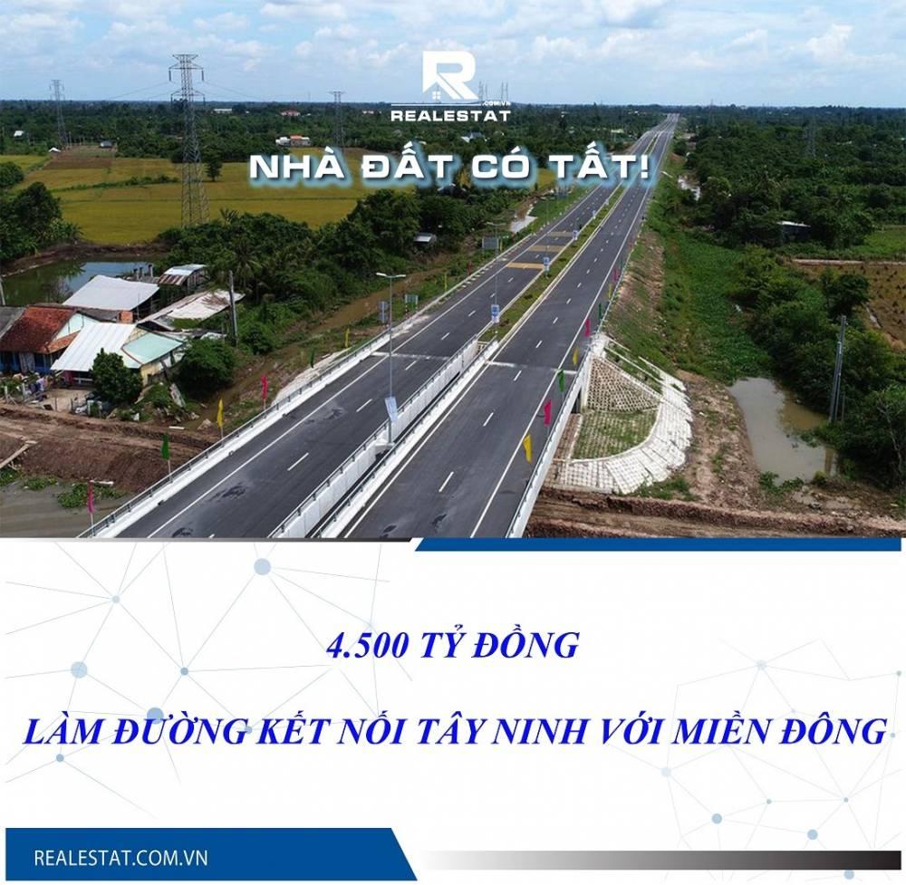 4.500 tỷ đồng làm đường kết nối Tây Ninh với miền Đông