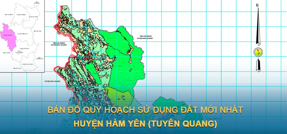 Bản đồ quy hoạch sử dụng đất huyện Hàm Yên 2030