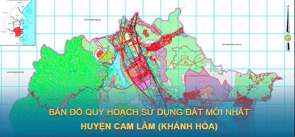 Bản đồ quy hoạch sử dụng đất huyện Cam Lâm 2021