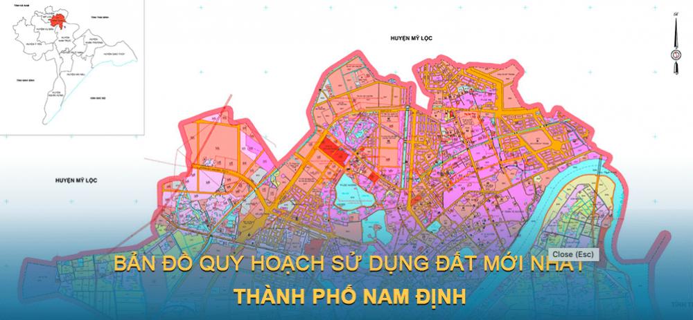 Bản đồ quy hoạch sử dụng đất Thành phố Nam Định 2025