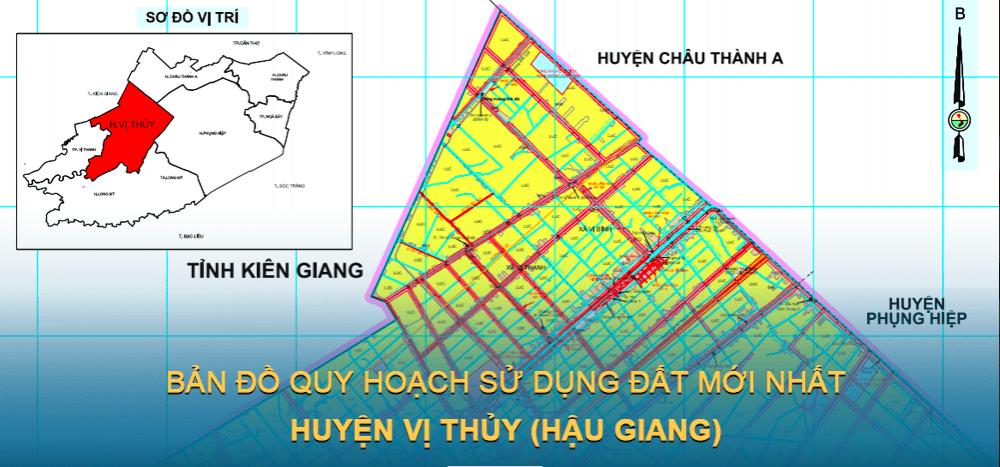 Bản đồ quy hoạch sử dụng đất huyện Vị Thủy 2030