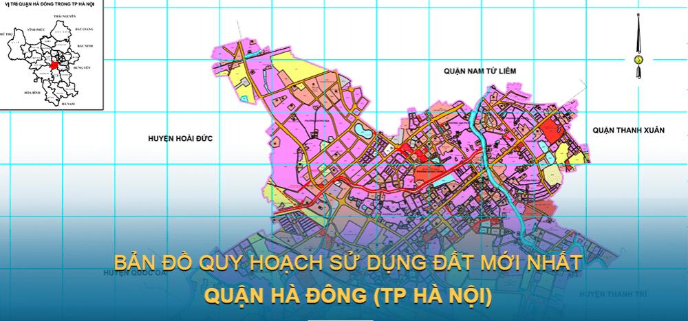 Bản đồ quy hoạch sử dụng đất quận Hà Đông 2021