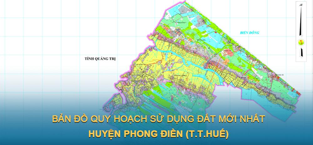 Bản đồ quy hoạch sử dụng đất huyện Phong Điền 2021