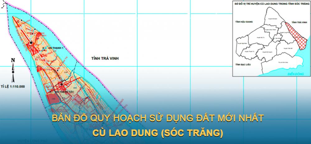 Bản đồ quy hoạch sử dụng đất huyện Cù Lao Dung 2021