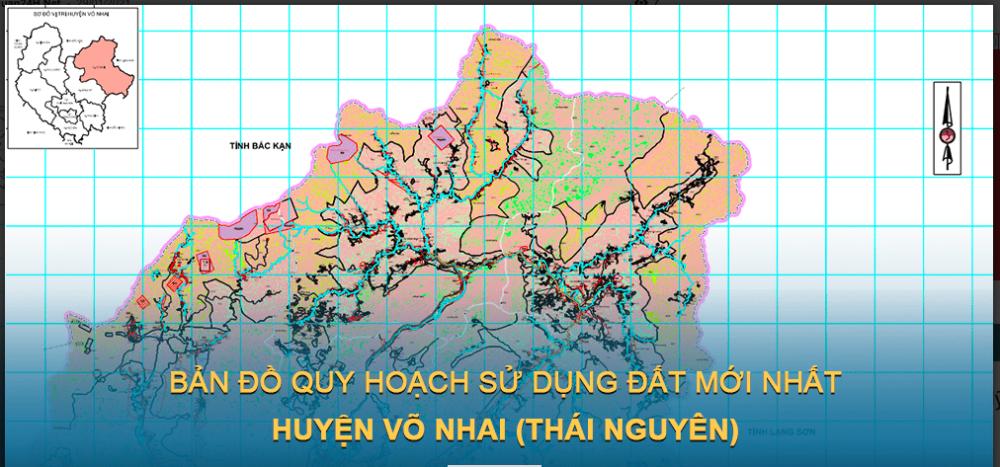 Bản đồ quy hoạch sử dụng đất huyện Võ Nhai 2030