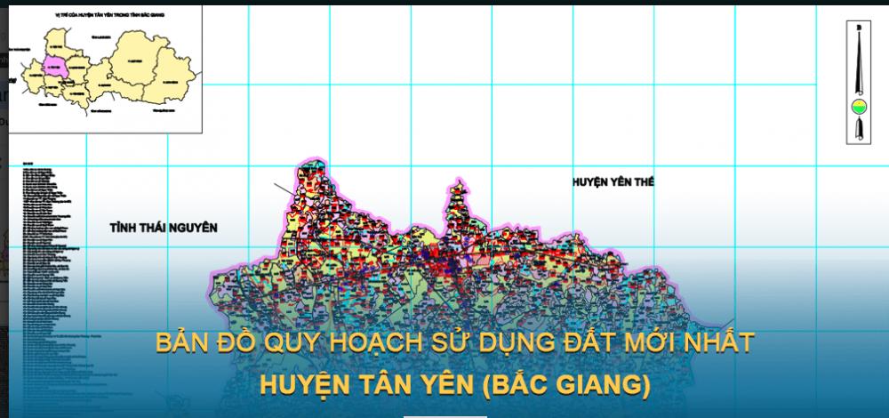 Bản đồ quy hoạch sử dụng đất huyện Tân Yên 2030